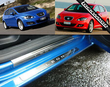 Seat Leon mk2 (2005 to 2012) Stainless Steel Sill Protectors/Kick plates