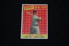 1958 Topps Jackie Jensen Boston Red Sox All Star Baseball Card-#489-EX-MT+