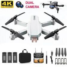 Faltbar WIFI FPV Drohne mit 4K HD Kamera Selfie Quadrocopter RC Drone 3 Akkus DE