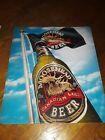 Moosehead Beer Blue Sky scene  tin bar sign Bottle