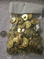 Vintage Anchor Over Rope Gold Metal Buttons Size 36 Lot of 36  #5070