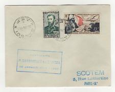 A.E.F. 2 timbres sur lettre FDC 1952 tampon Bangui /L508