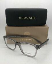 New VERSACE Eyeglasses MOD.3239 593 54-20 145 Smoke Grey Transparent Frames