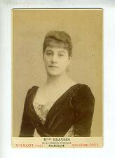 "(B2) Grande Photo CDV CHALOT ""chanteuse actrice opéra théâtre"" Mlle BRANDÈS"