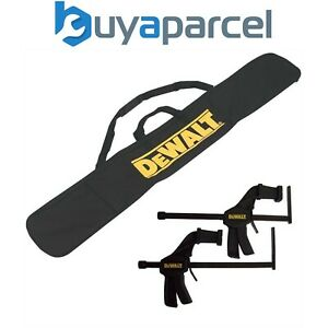 Dewalt DWS5025 Plunge Saw Guide Rail Carry Bag + Pair Guide Rail Clamps DWS5026