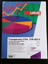 Labelon Imaging Supplies XTR-265-11 Transparency Film Copier Removable Paper 100
