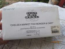 DEPT. 56 DICKENS VILLAGE CHELSEA MARKET FISH MONGER & CART 2PC 5814-9 W BOX LAMP