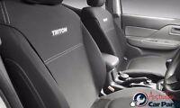 TRITON SEAT COVERS FRONT MITSUBISHI GENUINE MQ MY16 Single Cab May 2015-onwards