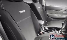 TRITON SEAT COVERS FRONT MITSUBISHI GENUINE MQ MY16 D/Cab May 2015- ACCESSORIES