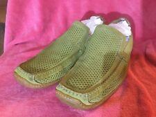 SPORT Donald J Pliner Men SUEDE Light Green Loafers,size 13 M.