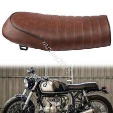 Motorcycle 53cm Brown Vintage Saddle Seat Cafe Racer Universal For Honda CB CG