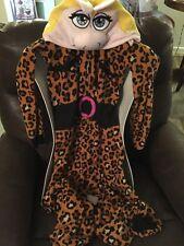 EUC Cozy Fleece Disney Miss Piggy Muppets Adult One Piece Pajamas Size X-Small