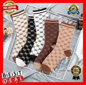 Cotton G g Socks Design One Size Fits 100% Summer Women Socks Printed G Letter