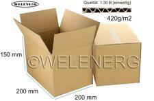 100x 200x200x150 mm Kartons Faltkartons Faltschachteln Versandkarton Postkarton