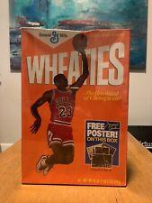 Vintage 1984 Wheaties Cereal Michael Jordan Air Jordan New Sealed Free Poster MJ