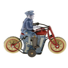 Vintage Wind-up Policeman Riding Motorcycle Crafts Clockwork Toy Collection