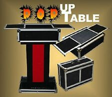 POP UP PERFORMERS MAGICIANS TABLE Carrying Case Magic Trick Side Stand Folds Pro