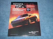 "1987 Toyota Celica GT-S Vintage Ad ""One Beautiful Performer"""