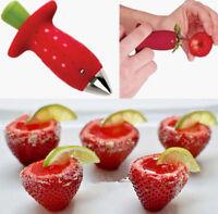 Fruit Strawberry Berry Stem Gem Leaves Huller Removal Corer Kitchen Tool New