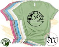 Baby Yoda Star Wars Shirt, Cute Galaxy Edge Tee, Mandalorian Tees Men Women Kids