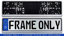 German License Plate Frame / Euro Evo2 Frame BMW VW Mercedes Mini Audi - Silver