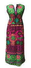 Vintage Maxi Dress Psychedelic Hippie Brigh Colors Floral XS/S