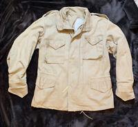 M-65 Field Jacket Coat Khaki Brown Size Medium Regular 4 Pocket