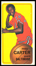 1970 71 TOPPS BASKETBALL TALL BOYS #129 FRED CARTER EX+ BALTIMORE BULLETS card