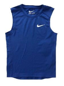 Nike Small Boy's Dri-FIT Training  Tank, Blue Size  7