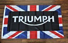 Triumph Motorcycles Racing Flag Banner Uk England United Kingdom Union Jack New