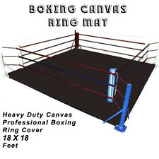 DEFY PROFESSIONAL BOXING RING MAT HEAVY DUTY CANVAS COVER MMA JUDO 18 FT BLACK