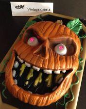 Animated HALLOWEEN TALKING DOORBELL Pumpkin Jack-O-Lantern  Ringer Prop *RARE*