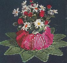 Vintage Crochet PATTERN to make Pineapple Doily Flower Pot Cover FlowerPotCover