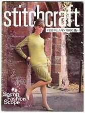 Stitchcraft Magazine Feb 1966 1960s Fashion Knitting