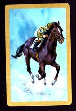 Vintage Swap/Playing Card - Racehorse (Gold Border)