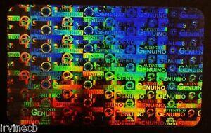 Hologram Spanish Holograma Español Inkjet Teslin Overlay ID Cards - Lot of 100
