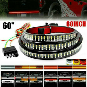 """Tailgate LED Strip Bar 60"""" Tail Light Truck Stop Brake Turn Signal For Ford F150"""
