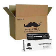 Moustache® 12PK 85A CE285A Black Toner For HP LaserJet M1132 P1102W P1100 Series