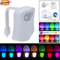 Toilet Night Light 16 Color LED Motion Activated Sensor Bathroom Illumibowl Seat
