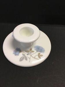 Wedgwood Ice Rose Bone China England Single Candle Stick Holder S13