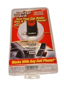 Cell Phone HANDS FREE Car Speakerphone Converter Jupiter Jack 6-NEW Adapter Kit