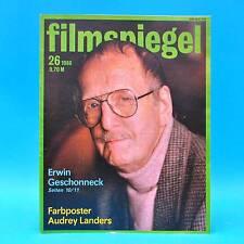 DDR Filmspiegel 26/1986 Erwin Geschonneck Audrey Landers Maria Malle R. Hoppe K