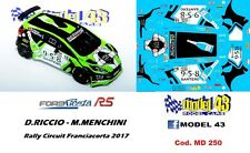 DECAL  1/43 -  FORD  FIESTA R5   -  RICCIO - Rally CIRCUIT    2017