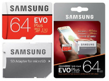 Samsung 64GB Micro SD Card EVO+ Class 10 100MB/s U3 Fits GoPro Hero 3+ 4 5 6 7 8