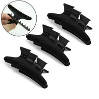 3/6/12Pc Butterfly Plastic Hair Claw Salon Clip Clamps Hairdressers Hairdressing