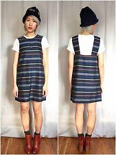STEVEN ALAN NWT$ 285 GARDEN DRESS MULTI STRIPED WOOL BLUE SZ S