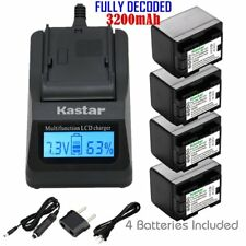 BP-727 Battery & Fast Charger for Canon VIXIA HF M50 M52 M500 R30 R32 R40 R42
