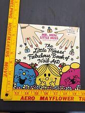 Mr. Men Little Miss Little Misses' Fabulous Book of Nail ART PB new decals FUN