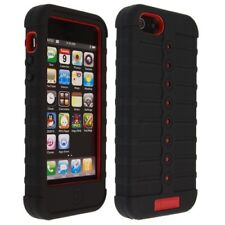 Duo Shield Hybrid Protector Case Black/Red Phone Skin Cover for Apple iPhone 5