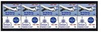 PAN AM AIRLINES CENTENARY FLIGHT STRIP OF 10 MINT VIGNETTE STAMPS, BOEING 747